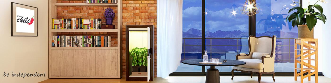 LED grow box - premium LED grow cabinet - urban Chili