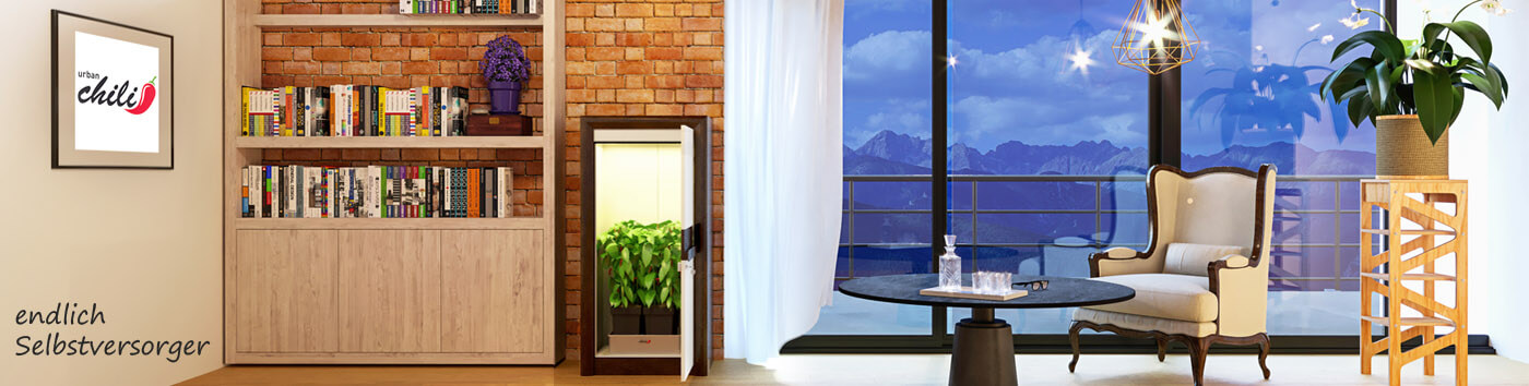 LED growbox Komplettset urban Chili premium LED Growschrank