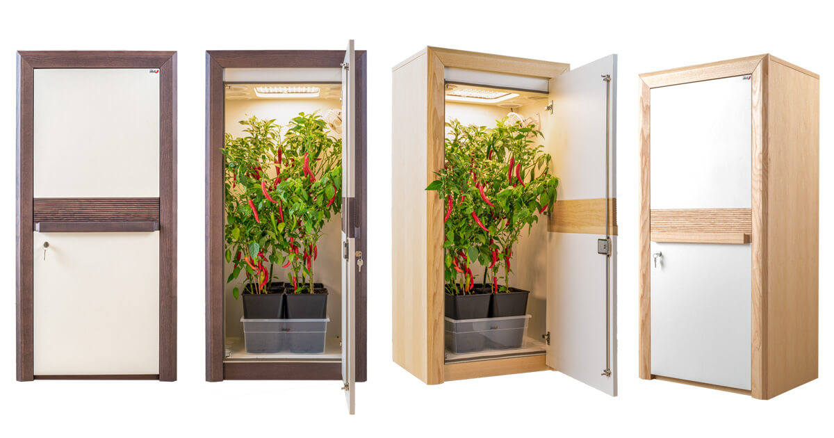 grow cabinet over view